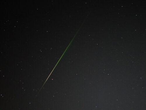 Foto van een Perseïdenmeteoor.