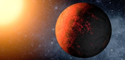 Een planeet uit het KOI-351 stelsel
