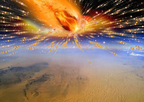 komeet ontploft boven Egypte