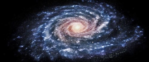 artist impression milky way