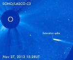 SOHO heeft komeet ISON in 't vizier – probeert het niet na te doen!