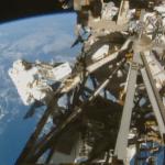 Derde ruimtewandeling NASA-astronauten, het werk is afgerond