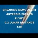 Planetoïde 2015 YB passeert vandaag de aarde op 0,2 maansafstand