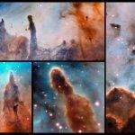Kleurrijke Carinanevel lijdt onder verzengende straling van nabije sterren