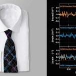 Leuk idee voor kerst, zo'n stropdas of jurk met zwaartekrachtsgolven