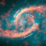 Kleurrijk sterrenstelsel heeft opvallende oogleden