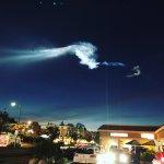 Lancering Iridium-4 satellieten met Falcon 9 raket van SpaceX leverde spectaculaire beelden in Californië op