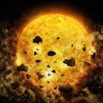 Röntgengegevens wijzen naar ster die een planeet heeft opgepeuzeld