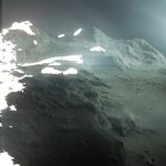 Een geweldige blik van Rosetta op komeet 67P/Churyumov-Gerasimenko
