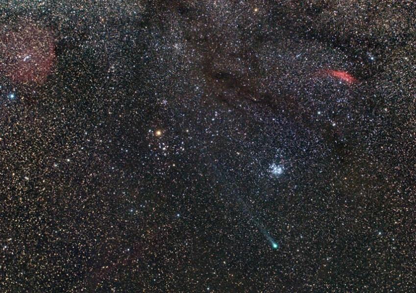 Komet Lovejoy, 7x2 min ekspozicije.
