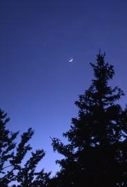 Mjesec i Venera sa Zavižana