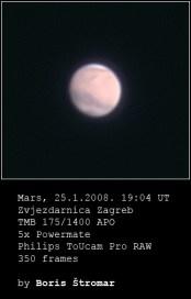 Mars sa Zagrebačke zvjezdarnice