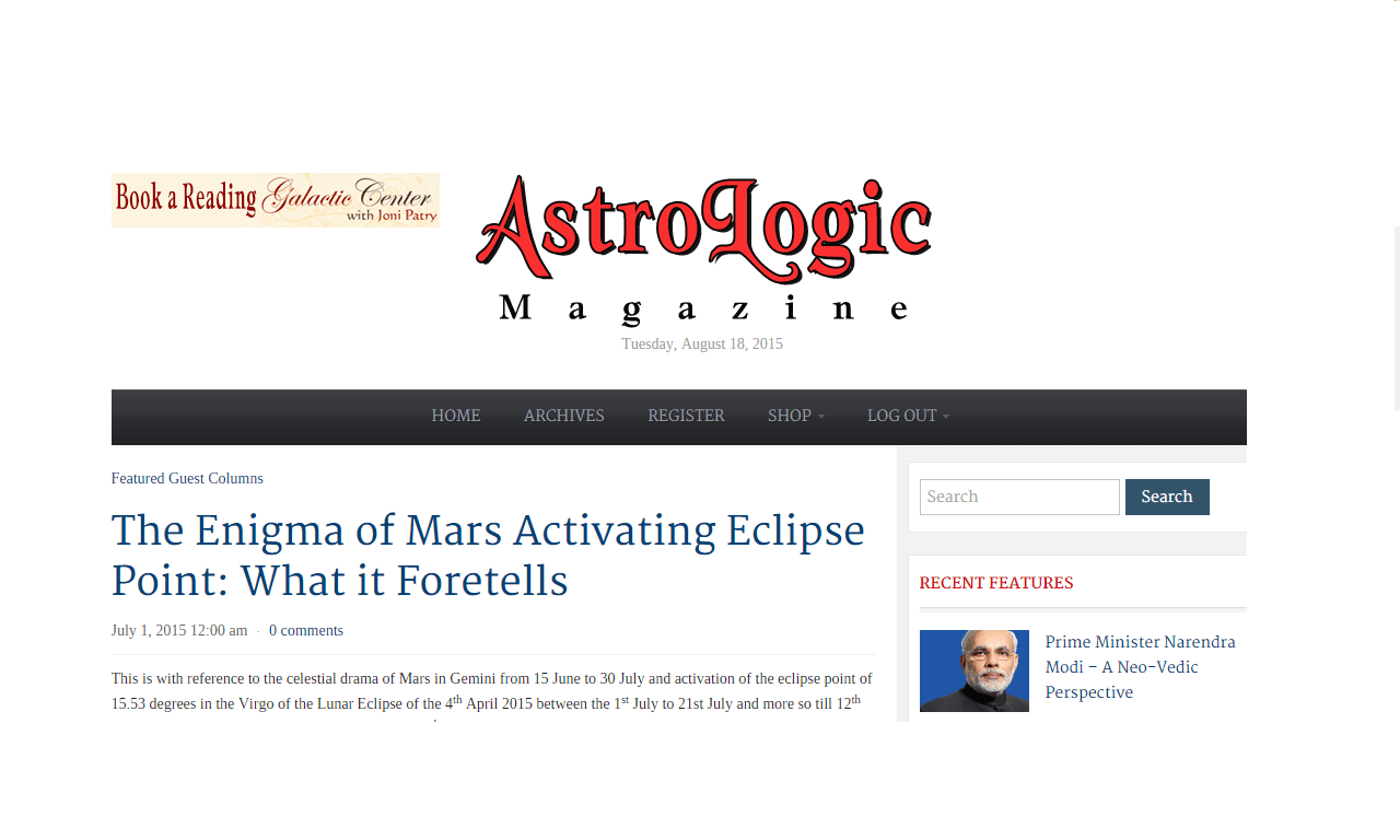 My articles in magzines astrodoc anil 1st jan 2018 geenschuldenfo Images
