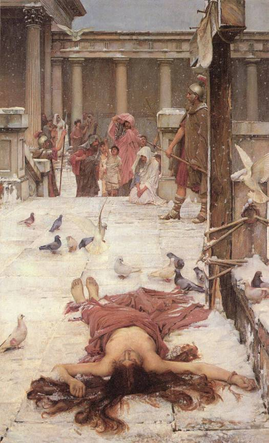 Chiron Moon Aspects: Saint Eulalia by John William Waterhouse
