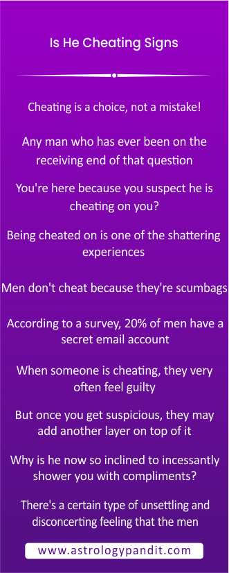 is he cheating signs on you or you infographics