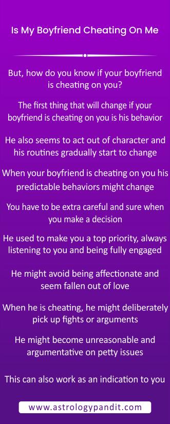 Is my boyfriend cheating on me infograhics