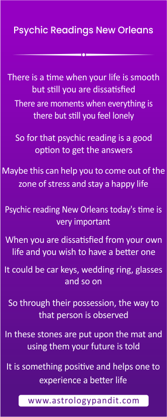Importance of Psychic readings New Orleans info graphic