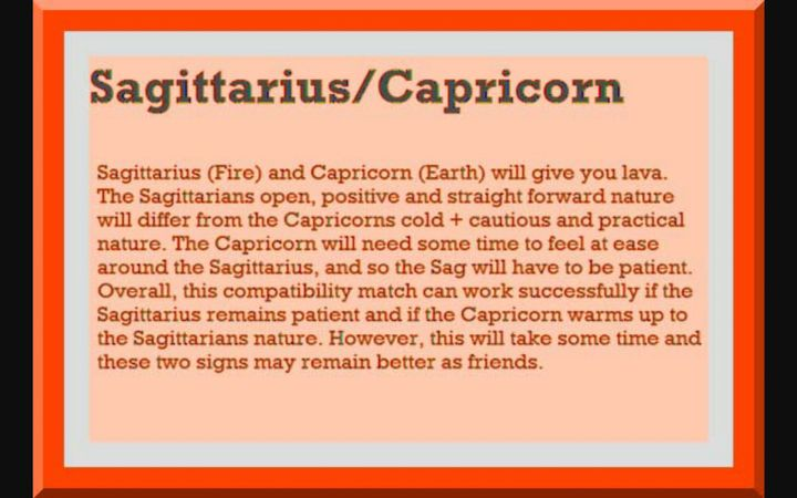 Capricorn man Sagittarius woman compatibility in love