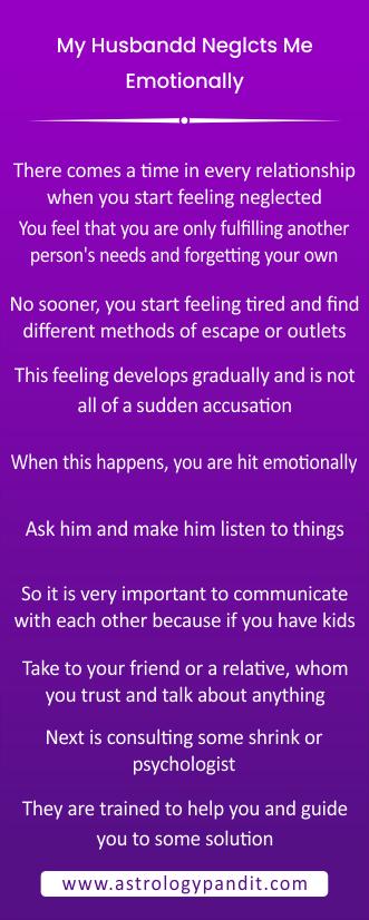 husband starts neglecting you emotionally? info graphics