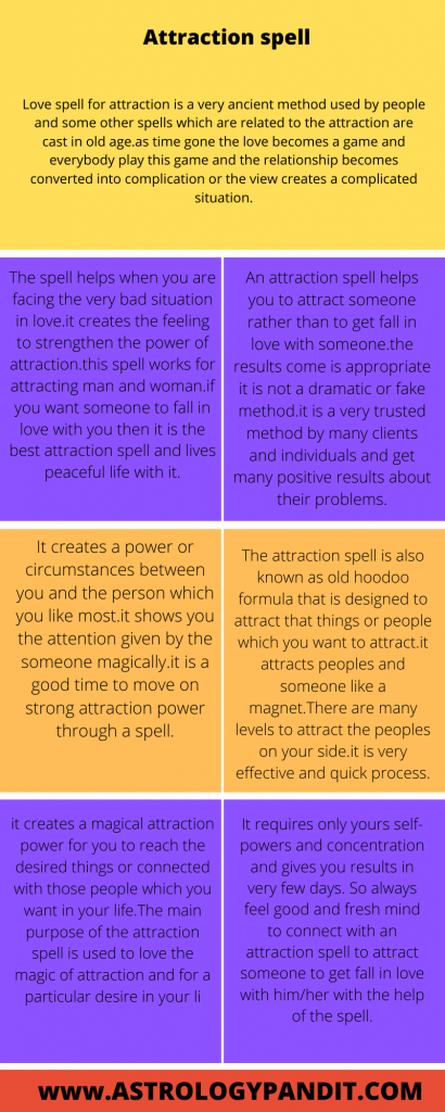 Attraction spells to attract someone
