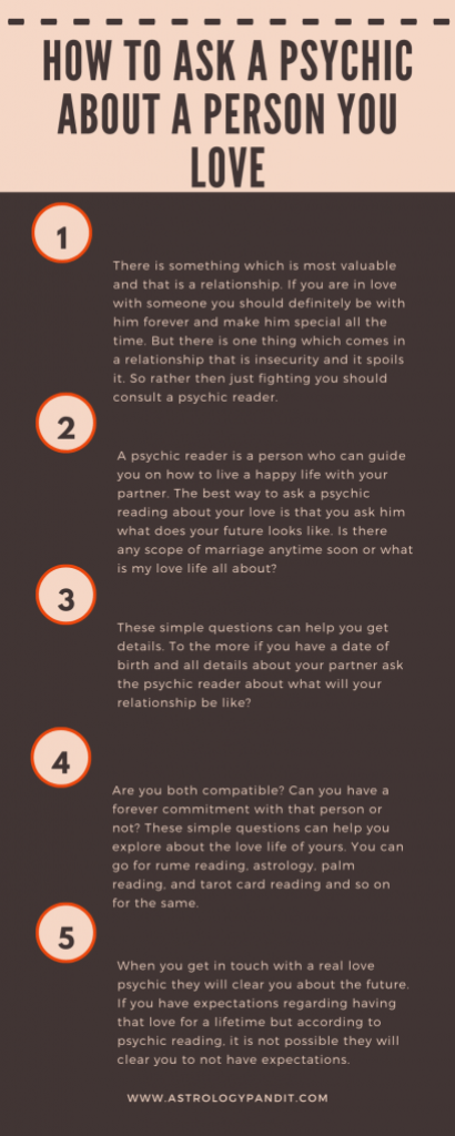 How to ask a psychic about a person you love