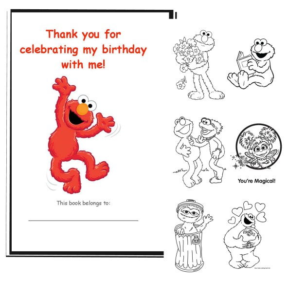DIY Elmo Coloring Book