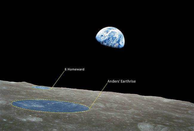 Bumi Terbit yang dipotret oleh Willam Anders saat Misi Apollo 8. Kredit: William Anders / NASA