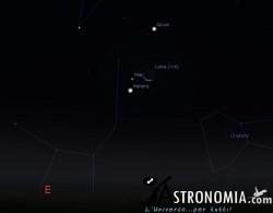 Congiunzione Luna - Marte - Venere, giorno 7 ore 5