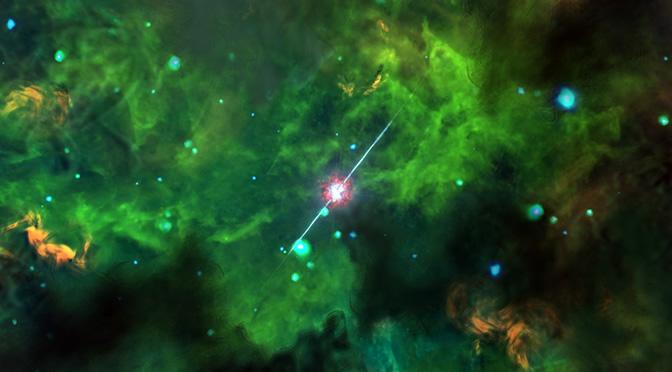 """Estudian el entorno de los estallidos """"oscuros"""" de rayos gamma"""