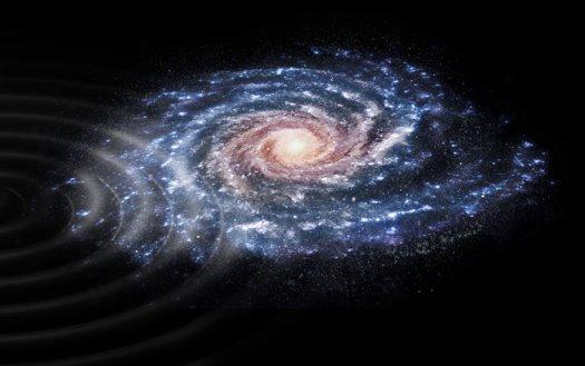 Samanyolu'ndaki bazı yıldızların dışarıdan gelen etki nedeniyle hareketlerini değiştirdikleri belirlendi. (ESA)