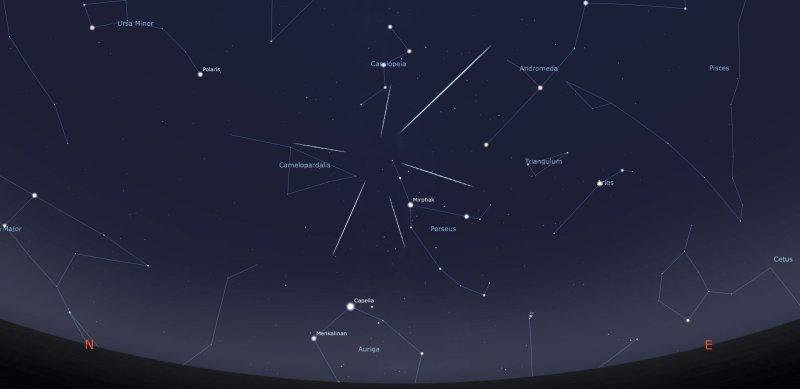 Il Radiante Delle Meteore Perseidi Le Stelle Cadenti Di Agosto