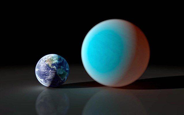 Ο εξωπλανήτης, που ονομάζεται 55 Καρκίνου ε, περιφέρεται γύρω από ένα αστέρα σχετικά παρόμοιο με τον Ήλιο, ο οποίος βρίσκεται σε απόσταση 41 ετών φωτός.