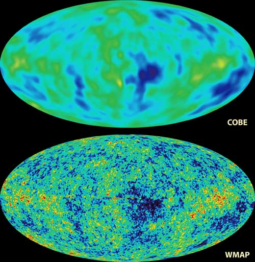 the fluctuations in the CMBR---galaxy seeds (COBE vs. WMAP)