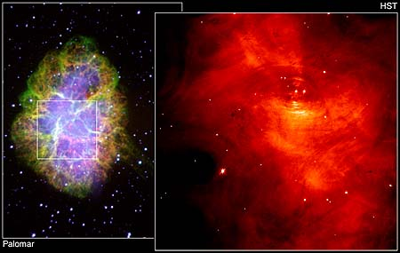 HST view of Crab Nebula pulsar
