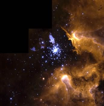 NGC 3603 captures star life cycle