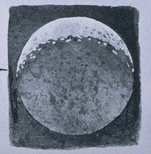 Moon drawing by Galileo