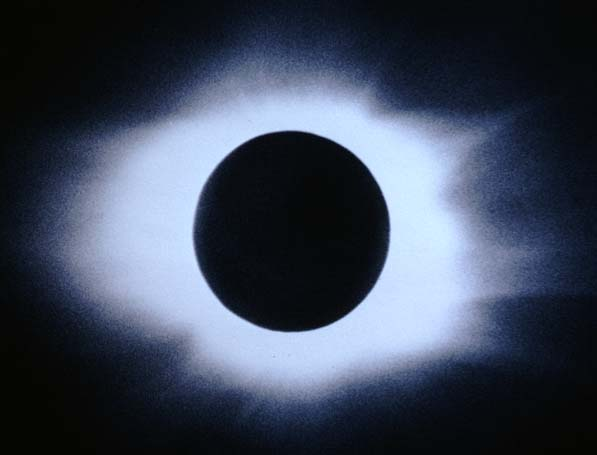 corona during an eclipse