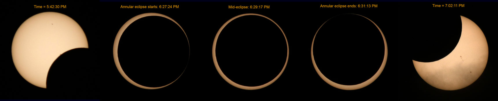 Annular eclipse of May 20, 2012