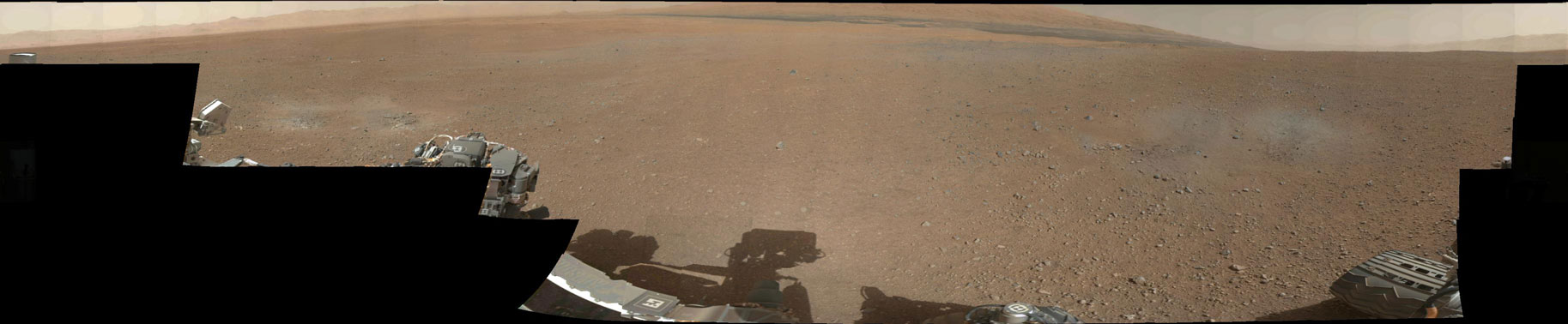 MSL's landing spot in Gale Crater