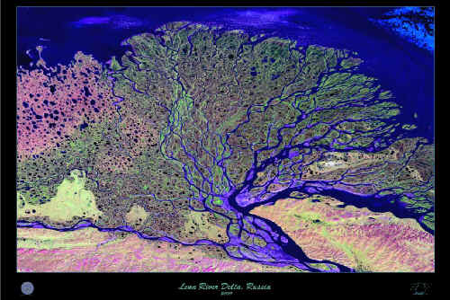Lena River delta in Russia