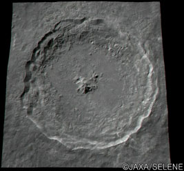 Tycho Crater seen by Kaguya