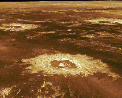 Craters on Venus in the northwester portion of Lavinia Planitia