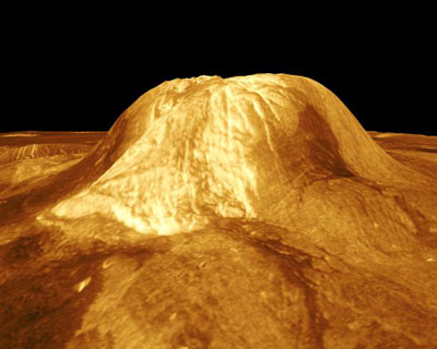 Gula Mons with recent lava flow