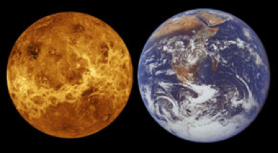 Venus and Earth (ESA)