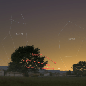 Venus, Jupiter, Mercury To Form Celestial Pyramid On May 23rd