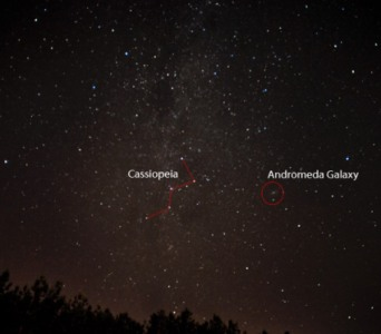 Cassiopeia and Andromeda Galaxy