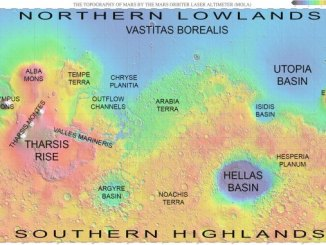 Mars Map and Regions