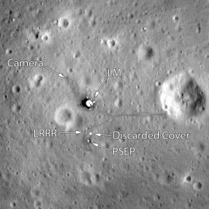 Landing site of Apollo 11