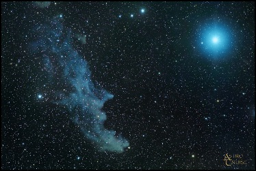 Witch Head Nebula and Rigel