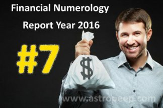 Financial Numerology 2016 - Personal Number 7